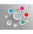 circles on gray background vector image vector image
