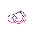 cloud computing upload network social media icon vector image