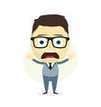 clueless businessman vector image