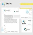 communication business letterhead envelope and vector image