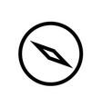 compass line icon vector image