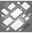 Corporate identity mock-up template vector image vector image