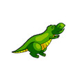 cute green dino ask for help city zoo vector image vector image