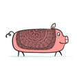 cute piggy for your design vector image vector image