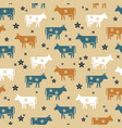 cute seamless pattern farm animals cows vector image vector image