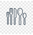 cutlery concept linear icon isolated on vector image vector image