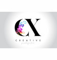 cx vibrant creative leter logo design vector image vector image