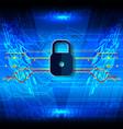 cyber security padlock fiber vector image