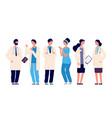 doctors team medical staff doctor nurse therapist vector image vector image