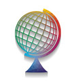 earth globe sign colorful icon with vector image vector image
