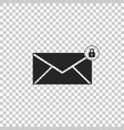 email message lock password icon isolated vector image vector image
