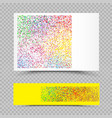 empty holi colors paper set template vector image vector image