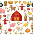 Farming Seamless Pattern vector image