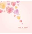 Fingerprint heart square corner romantic vector image
