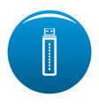 flash drive icon blue vector image vector image