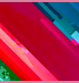 glitch diagonal background vector image vector image
