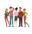 Group of talking friends vector image