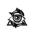 hand sketched all seeing eye pyramid symbol