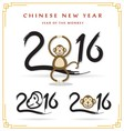 Happy Chinese New Year 2016 postcard with monkey vector image
