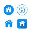 home icon four variants classic symbol icon in vector image vector image