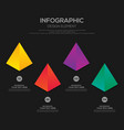infographic business template design with 4 vector image