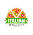 italian restaurant logo design authentic vector image