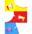 mega set megaphone image in different styles and vector image vector image