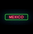 mexico neon sign bright light signboard banner vector image vector image