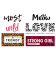 most wanted wild love ink lettering set vector image