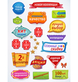 Multicolored set of promotional sales russian text vector image vector image
