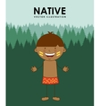 native kid vector image