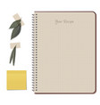notebook and olives hand drawn sketch-01 vector image vector image