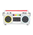 old school cassette player cartoon hand drawn vector image vector image