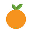 orange icon healthy food lifestyle fresh fruit vector image vector image