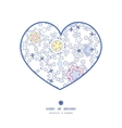 ornamental abstract swirls heart silhouette vector image