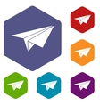 Paper plane icons set vector image vector image