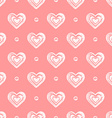 pink seamless grunge hearts pattern vector image vector image