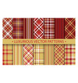 plaid pattern seamless ornate set luxurious rich vector image