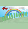 rainbow symbol support vector image vector image