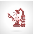 Red line icon for tattoo parlor vector image vector image
