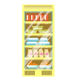 refrigerator from supermarket with plastic vector image vector image
