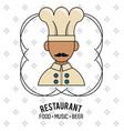restaurant and food emblem vector image