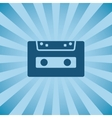Retro poster audio cassette vector image