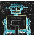 Robot and Computer vector image