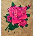 rose on a background paper vector image