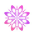 round floral pattern circle decorative ornament vector image