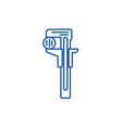 rulerwrenches line icon concept rulerwrenches vector image vector image