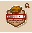 sandwiches label vector image vector image