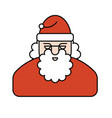 santa claus face new year grandfather portrait vector image vector image