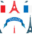 seamless pattern france vector image vector image